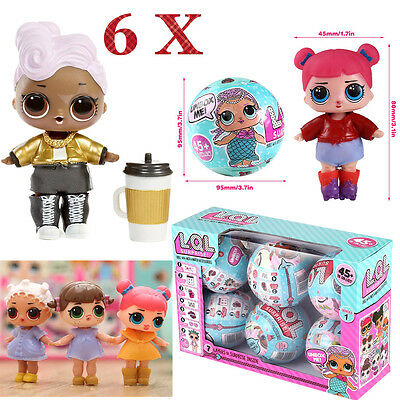 LOL Surprise Egg LIL SISTERS Dress Up Dolls Series 1 LOL Queen 7 Layers of Fun #