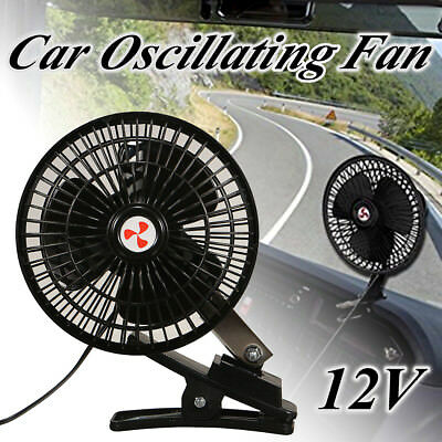 12V Portable Mini DC Car Electric Oscillating Fan Cooler Clip Vehicle Truck NSW