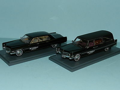 S&S CADILLAC HEARSE with coffin inside & CADILLAC 75 MOURNING CAR Boxed