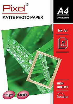 Pixel® Professional A4 Photo Paper Matte 128gsm 210mm x 297mm (50 sheets)
