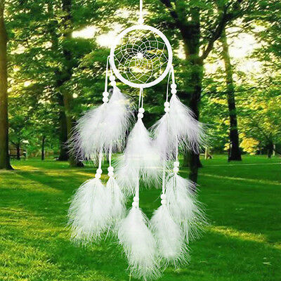 Indian Handmade Dream Catcher with Feathers Wall Hanging Ornament Craft Seraphic