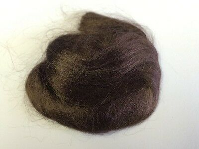 Brown Dolls Viscose Wigging Hair, Dolls House Miniature Doll Hair 1.12 Scale