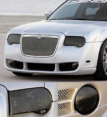 05-10 Chrysler 300C GTS Acrylic Smoke 4pc Headlight Fog Light Covers Protection