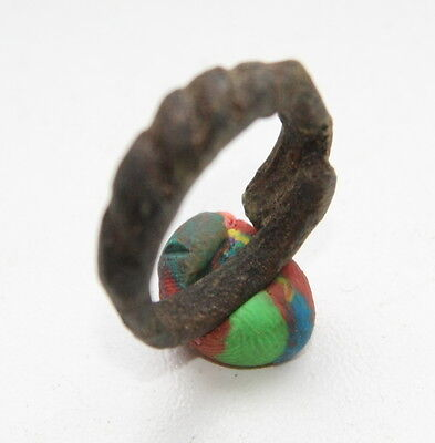 Ancient Old Pseudo Twisted Bronze Finger Ring (FBB78)