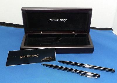 Reflections Pen and Pencil Set Wood Box Things Remembered