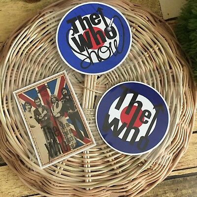The Who Rock Band Laptop Phone Skateboard Luggage Waterproof Vinyl Decal Sticker