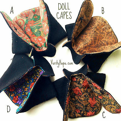 Cape for Blythe doll, Sindy, Barbie and similar size dolls by Verity Hope