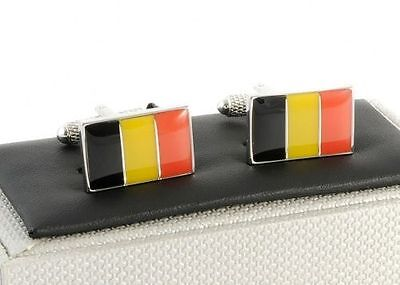 Flag of Belgium Cufflinks Belgium Flag In Onyx Art Cufflink Box
