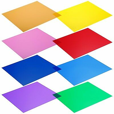 8PCS 12x12 inches Transparent Color Correction Lighting Gel Filter Neewer