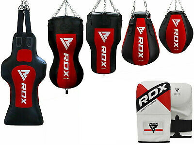 RDX Filled Heavy Punch Bag Kick Boxing Set Glove Bracket Chains Hanging Training
