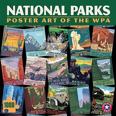 National Parks WPA 1000 Puzzle (Printed in USA)