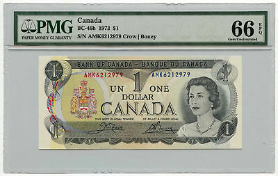 1973 Canada $1 Note BC-46b PMG Gem Uncirculated 66 EPQ
