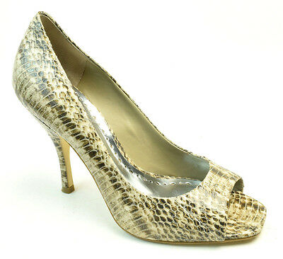 18ed5195a3f BCBGirls BG Ariel Womens Size 8.5 Snakeskin Printed Leather Open Toe Heels  Shoes
