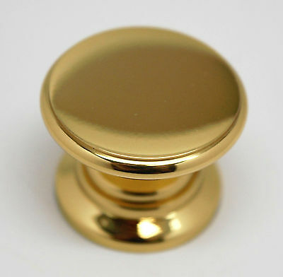 Allison Solid Polished Brass Knob Cabinet Cupboard Door Drawer Pull Hardware