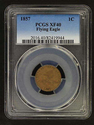 1857 Flying Eagle Cent PCGS XF-40 -155804