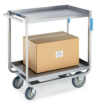Extreme Duty Stainless Steel Utility Cart -  21 1/4 x 36 1/2 x 37 1/4  1 ea