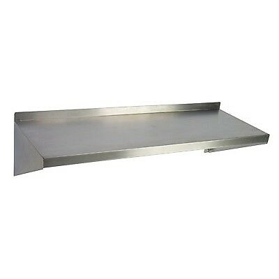 "Stainless Steel Wall Mounted Shelf - 12""W x 60""L x 10""D  1 ea"