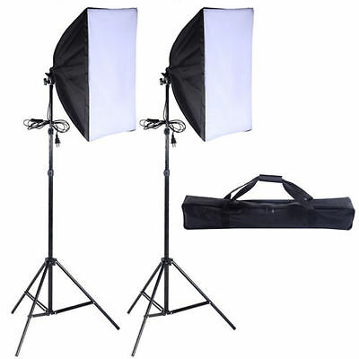 2 PCS Lighting Soft box Stand Photography Photo Equipment Soft Studio Light Kit