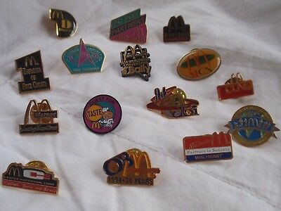 McDONALD'S Convention PINS - LOT of 15 Different - Diversity, 1994 Worldwide Con