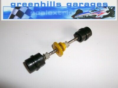 Greenhills Scalextric JPS Lotus No 1 rear axle and wheels C50 black Used P2181