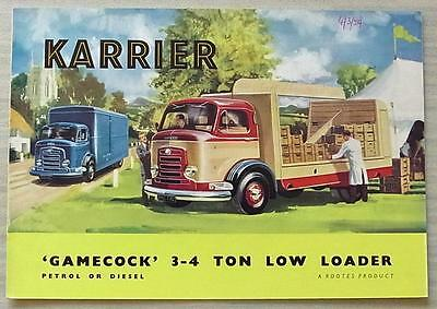 KARRIER GAMECOCK 3-4 TON LOW LOADER Commercial Sales Brochure Sept 1958 #1442