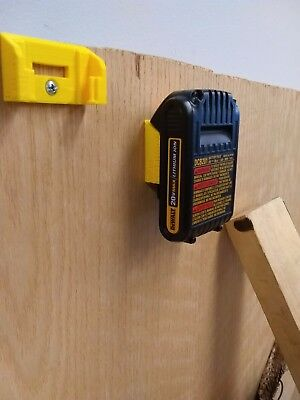 Wall Dock for Dewalt batteries, DCB201, DCB606, more. Mount under bench, on wall