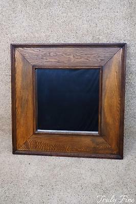 American Artisan Crafted Reclaimed Wood Antique Styled Mirror Oak