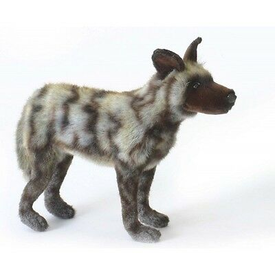New NWT Hansa Life Like Handmade Stuffed Animal African Wild Dog
