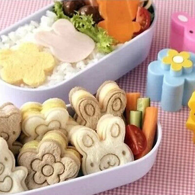 Cute Bear Flower Rabbit Sandwich Mold Sushi Cake Mold Egg Cutter Animal Kitchen