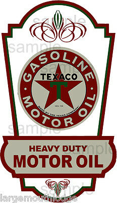Vintage Style 4 Inch Texaco Gasoline Motor Oil Decal Sticker