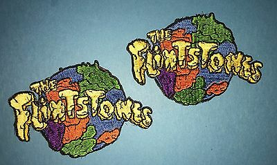 2 Lot The Flintstones Iron On Embroidered Hat Jacket Backpack Patches Crests