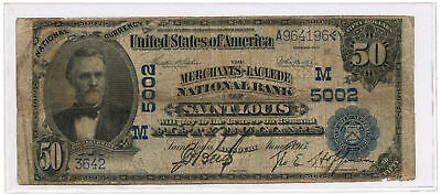 1902 $50 Date Back The Merchants-Laclede National Bank of Saint Louis, MO #5002