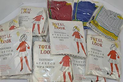 Vtg 60s Lot of 24 Girls TOTAL LOOK Textured Top Tights Sets SUGAR 'N SPICE - NOS