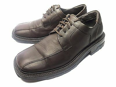 KENNETH COLE MADE IN ITALY MENS BICYCLE TOE BROWN LEATHER OXFORD SHOES 8.5 M