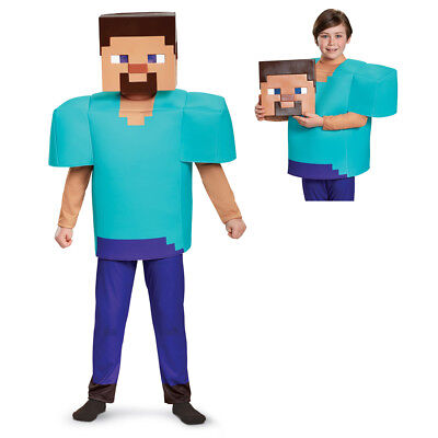 Boys Minecraft Steve Deluxe Halloween Costume