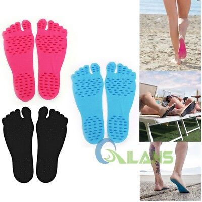 Pairs Naked Foot Fit Sticker Shoes Stick On Soles For Summer Swimming Running【AU