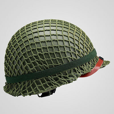 For WWII US Army Paratrooper M1 Helmet Cover Cotton Camouflage Net