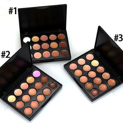 NEW MIni 15 Colors Face Concealer Camouflage Cream Powder Contour Palette Kit