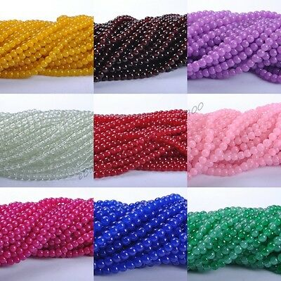 Top Quality Czech GLASS Round & Loose BEADS Choose - 4MM 6MM 8MM