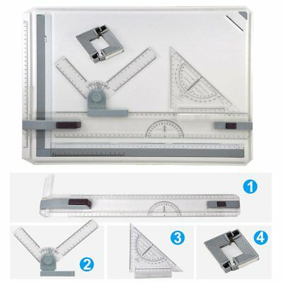 A3/A4 Office Drawing Board Table Top Architect Technical Design Magnetic Bar Set