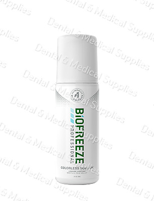 BIOFREEZE Professional PAIN RELIEVING GEL COLORLESS 3 oz  ROLL-ON--Exp 2019