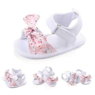 0-12M Newborn Girls Toddler Baby Shoes Soft Soled Princess Crib Shoes Prewalker