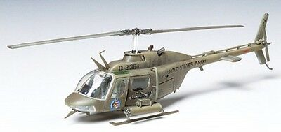 Tamiya 60712 1/72 Scale Model Military Helicopter Kit Bell OH-58 Kiowa