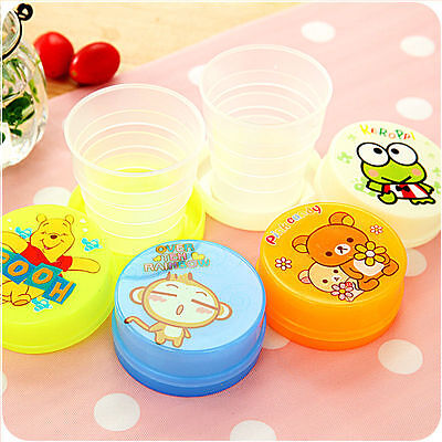 4 Pcs Children Cartoon Drinking Cup Travel Picnic Portable Foldable Tea Bottle