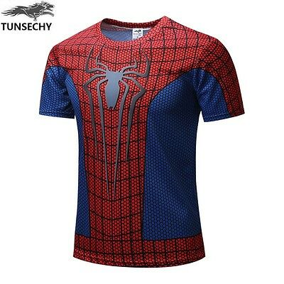 Spiderman Red Design 3D Casual Kids T-Shirts Jumper or Superman  (10 to 14yrs)