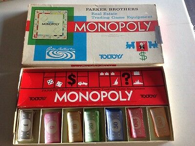 TOLTOYS MONOPOLY VGC BOARD GAME Parker Brothers Complete