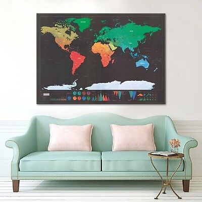 Scratch Where Have You Been All Your Life ! Amazing World Map For The Wall TOP
