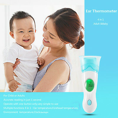 4 in 1 Digital Ear Thermometer Adult Baby Infra Red LCD Temperature Medical