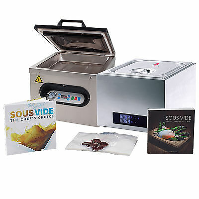 SousVideTools Chefs 14L Water Bath Sous Vide Vacuum Sealer Packer Recipe Bundle