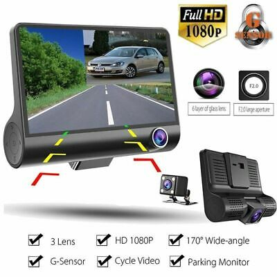 "Dual Lens Car DVR Camera Vehicle Video Recorder Dash Cam 4.0"" LCD Full HD 1080P"